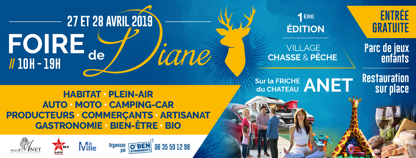 Retrouvez-nous à la Foire de Diane du samedi 27 au dimanche 28 Avril sur la Friche du château d'Anet